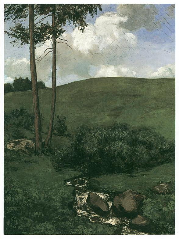 Karl Spitzweg (1808-1885) Pequeno Regato na Floresta Negra (1885), 84x68